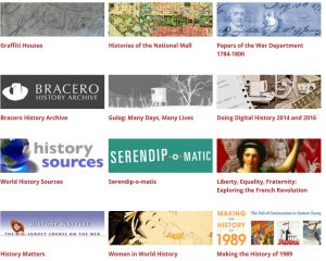 logos of projects funded by the NEH